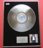 MICHAEL JACKSON - Off The Wall PLATINUM LP presentation Disc